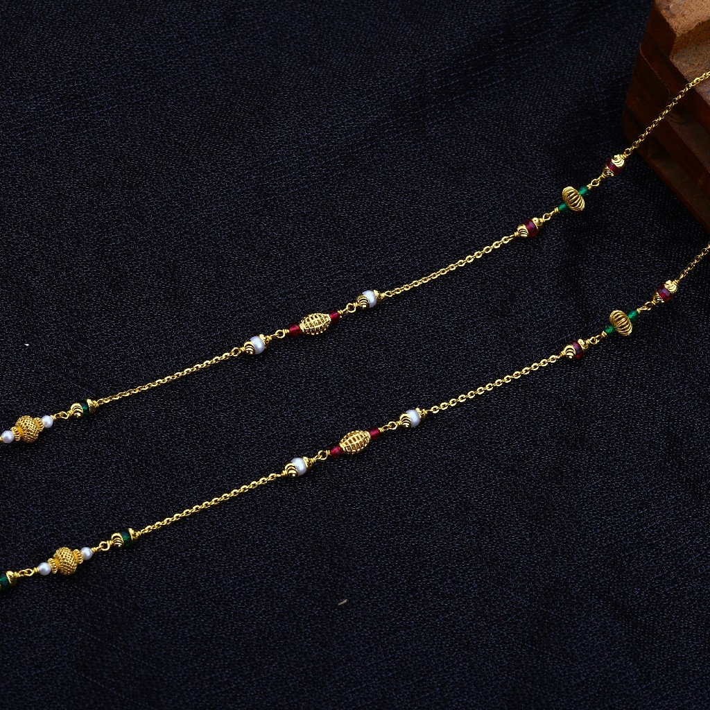 22kt Gold Stylish Antique Chain Mala AC141