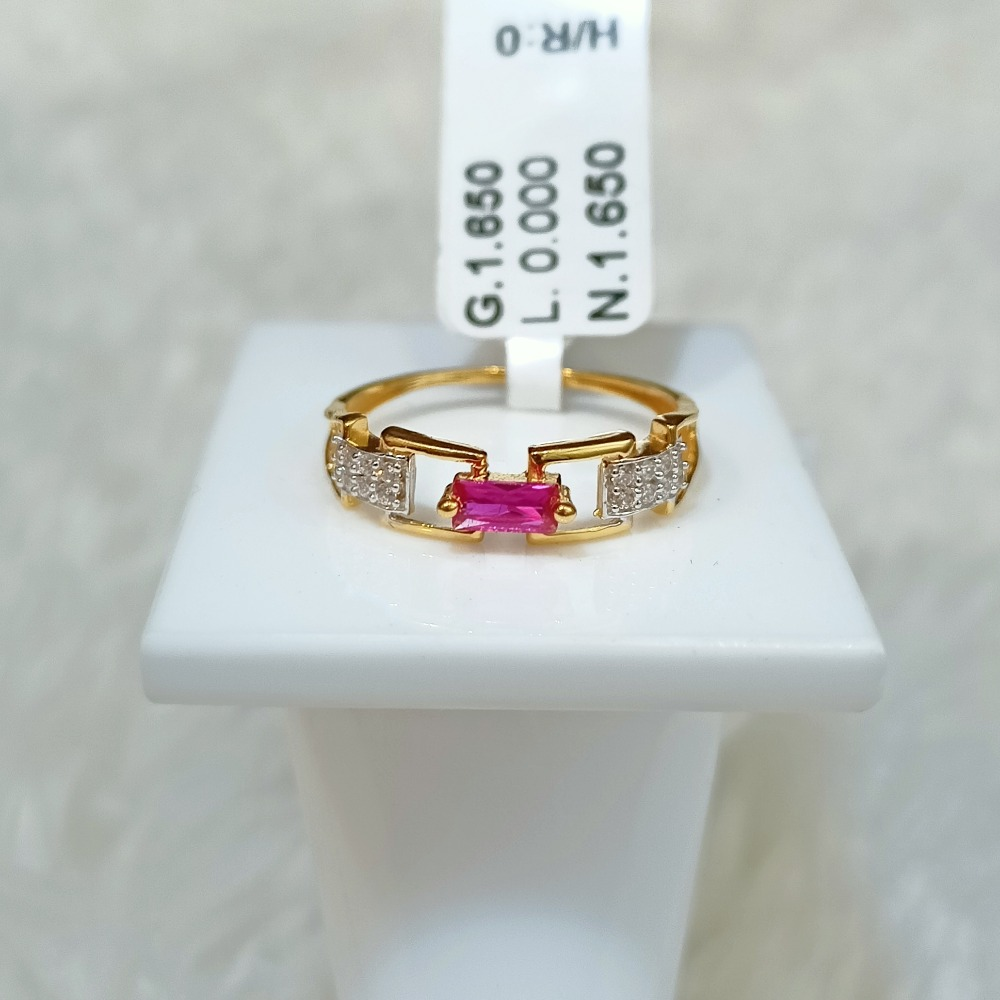 22 kT PINK DIAMOND RING