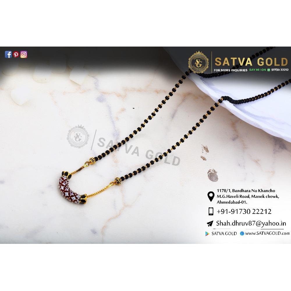 916 gold CZ Mangalsutra SGC-0043