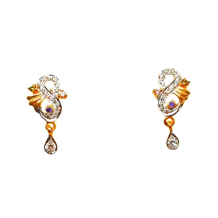 22K Gold Designer Earrings MGA - BTG0035