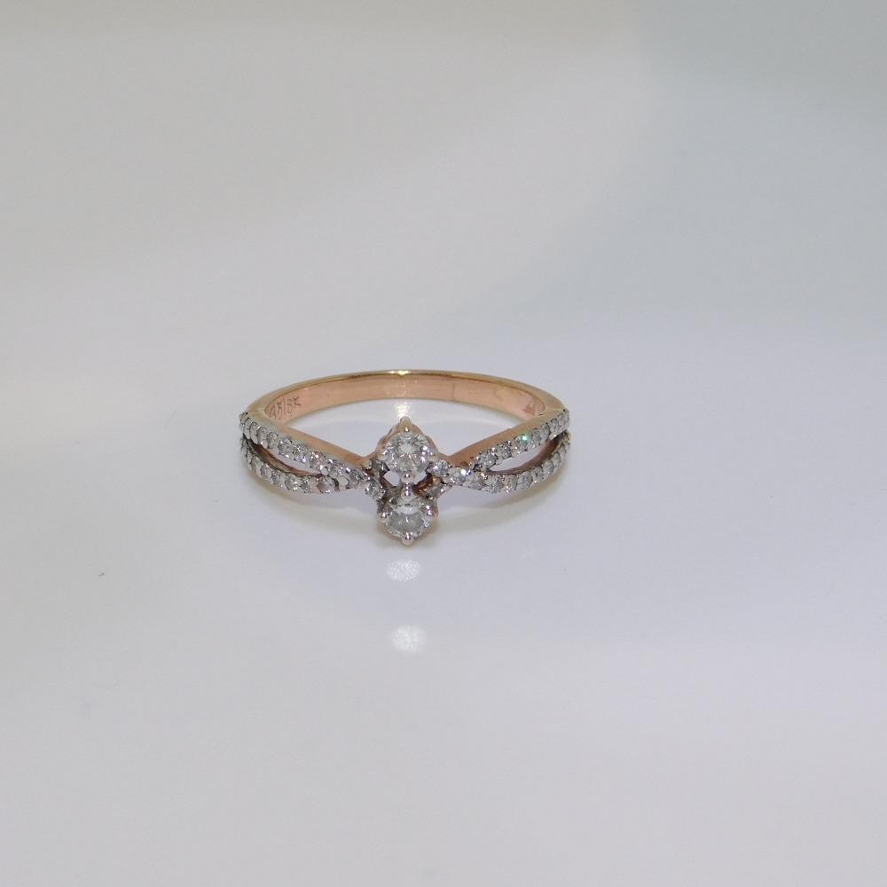 18K gold diamond ring agj-lr-311