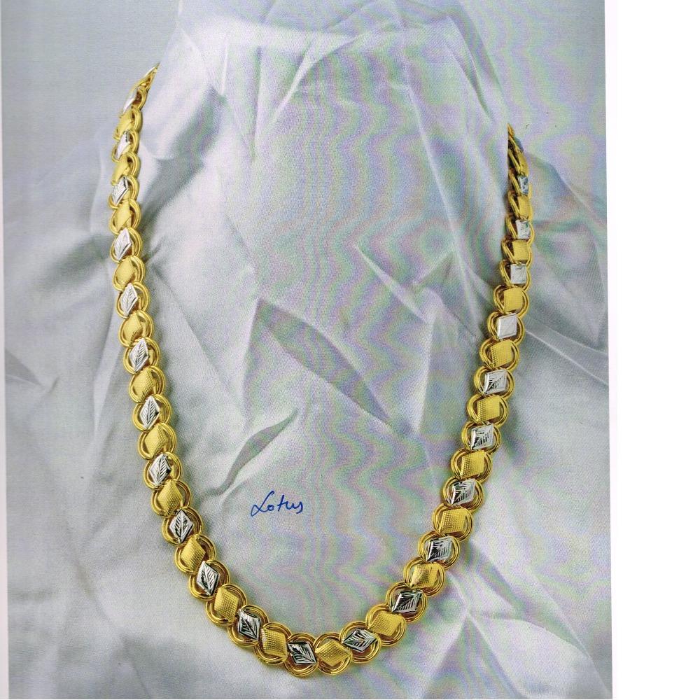 22KT hallmarked fancy lotus Chain SC-C068