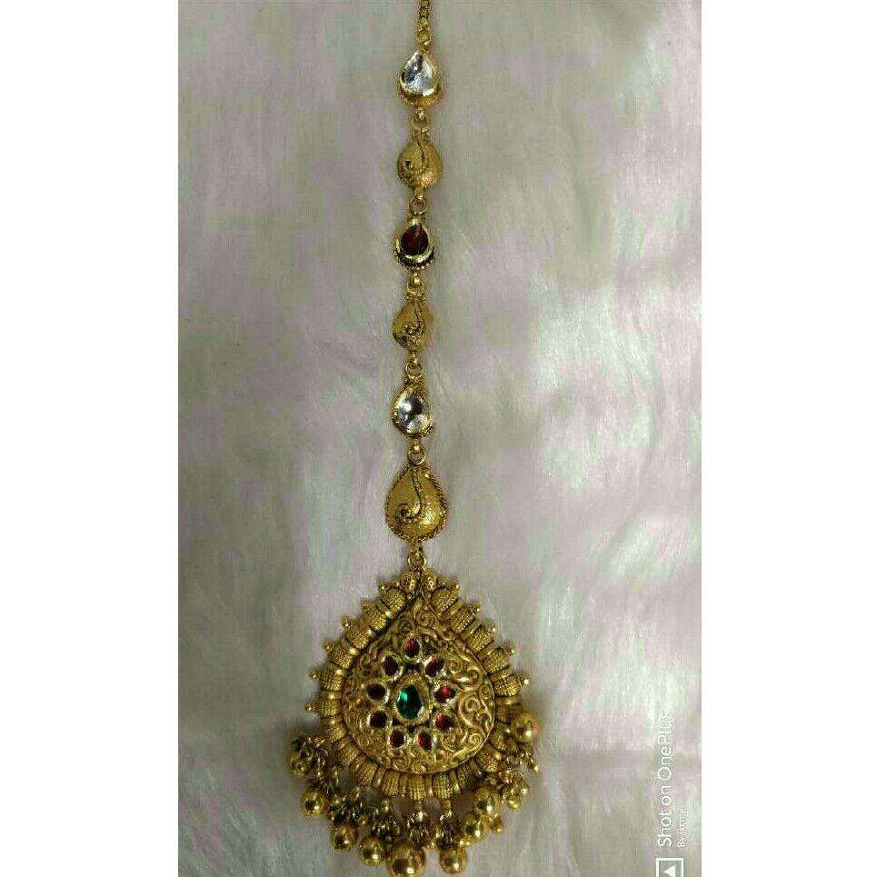 916 Gold Antique Jadtar Tikka