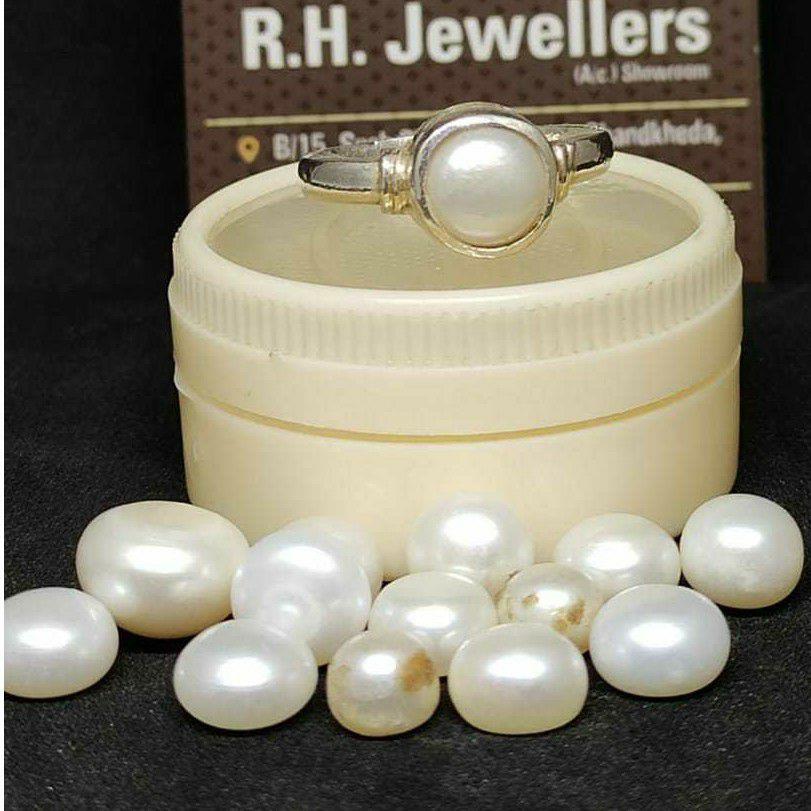 5ct round white morganite
