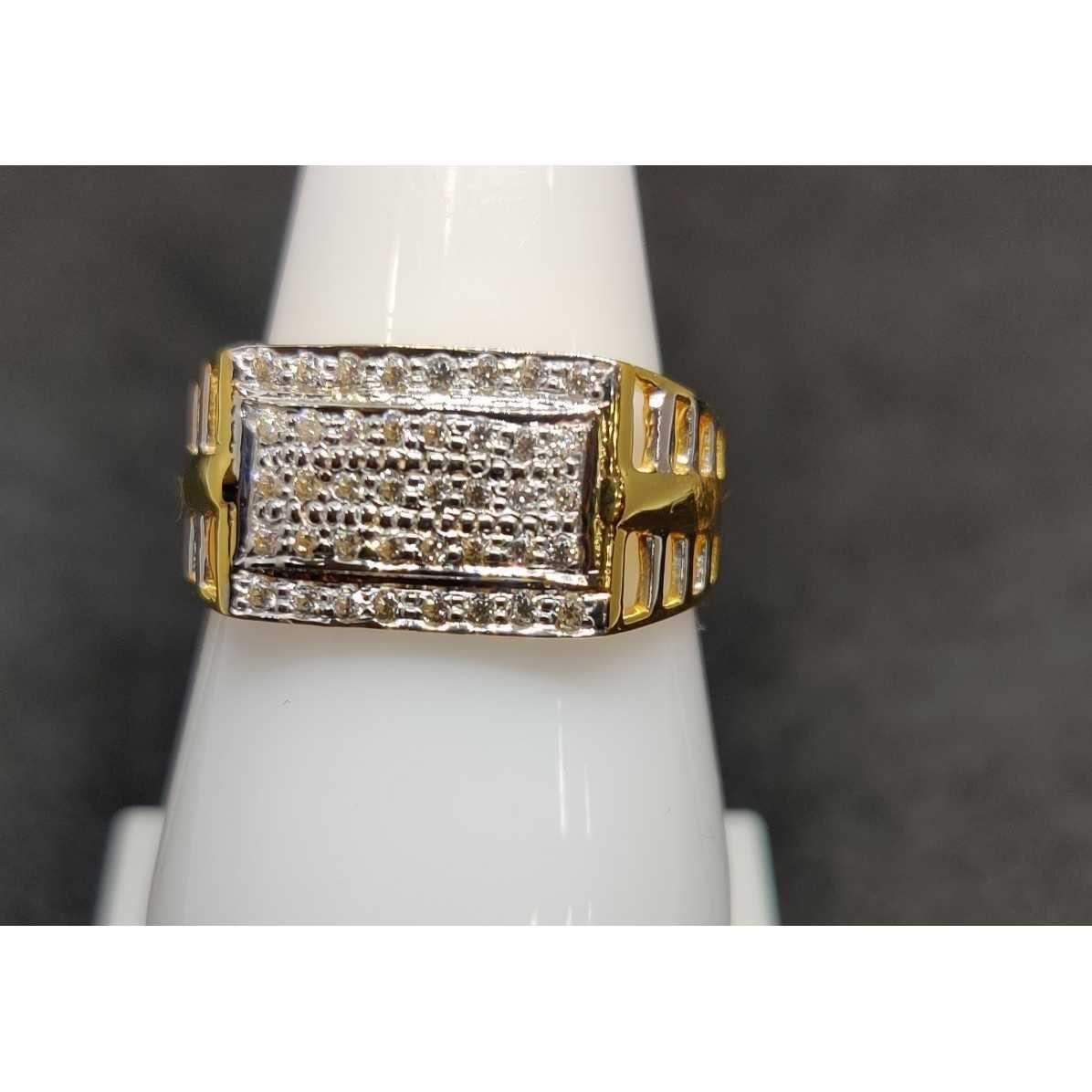 916 Gents Fancy Gold Ring Gr-28639