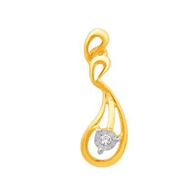 18k gold real diamond fancy earring mga - rde008