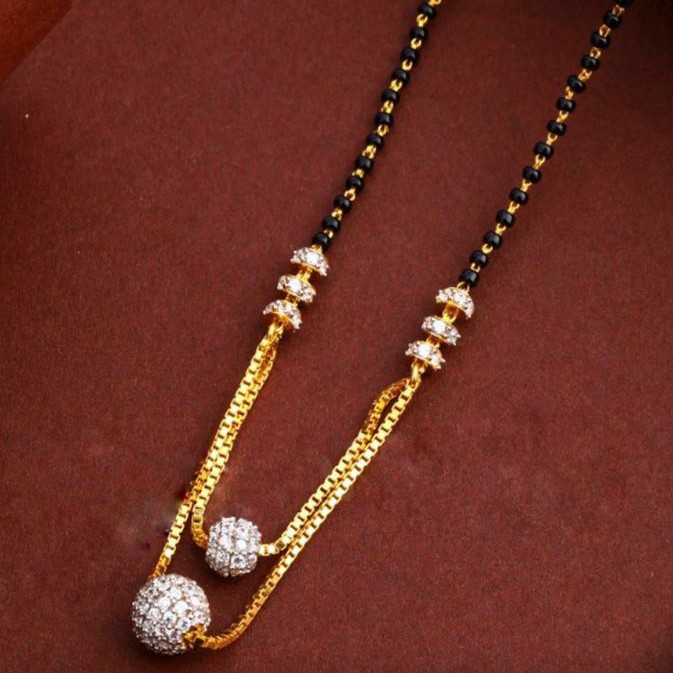 22KT/ 916 Gold fancy casual wear bolls pendant mangalsutra for ladies