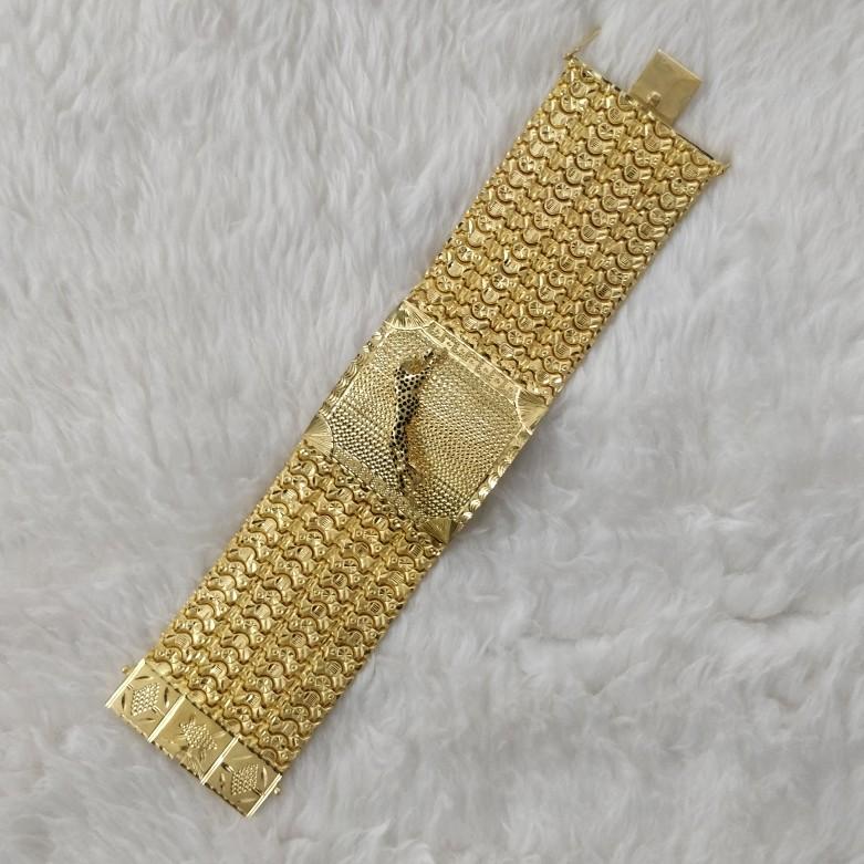 916 gold gent's bracelet