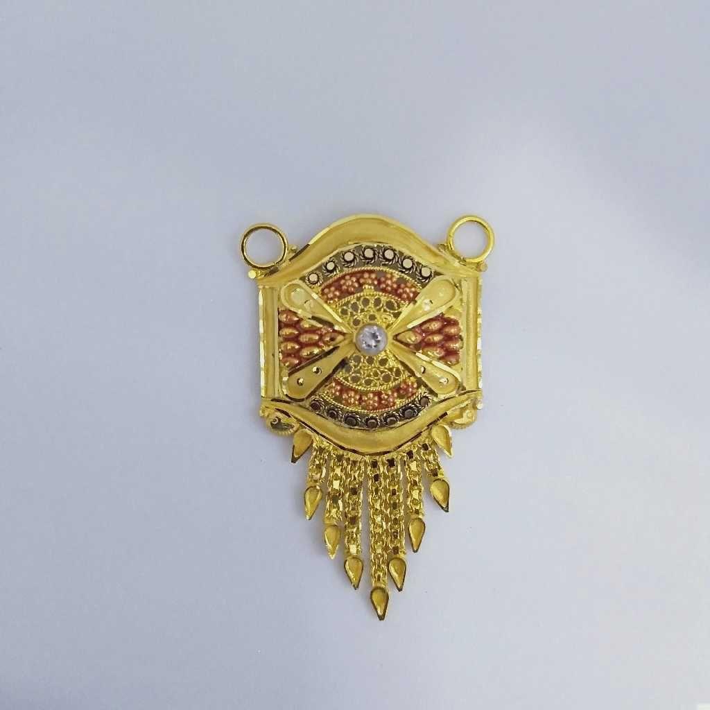 916 Gold Fancy Mangalsutra Pendants RJ-MP028