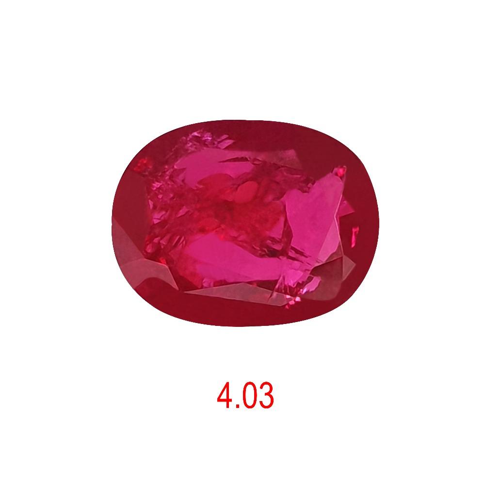 4.03ct oval shape pink manek