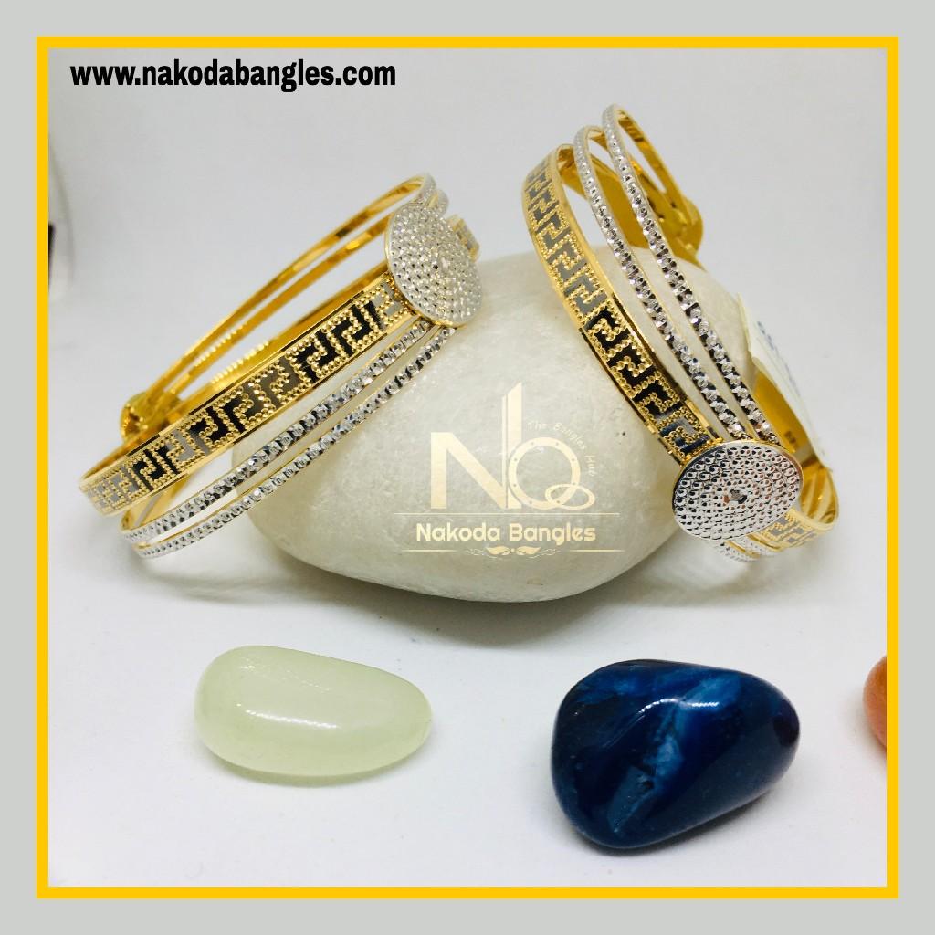 916 Gold CNC Bangles NB - 1268