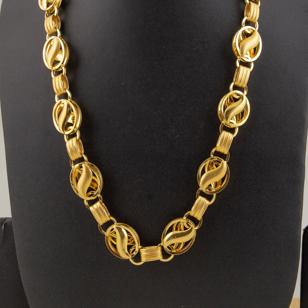 22kt gold heavy indo lotus chain ml-c03
