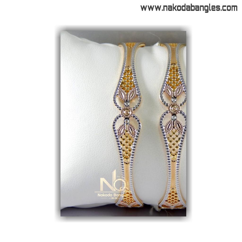 916 Gold CNC Bangles NB - 1406