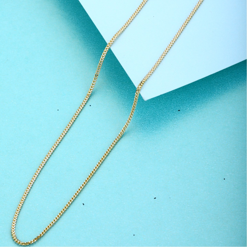 916 Gold Hallmark Plain Design Chain