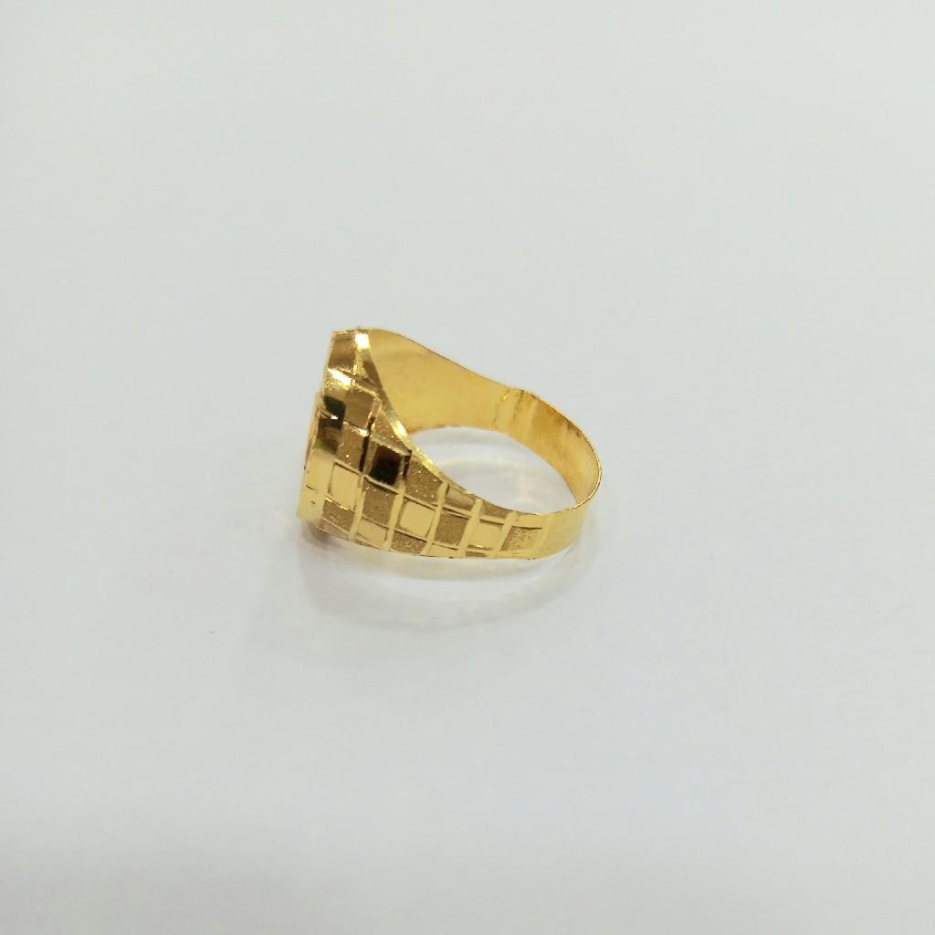 22 K GOLD FANCY PLAIN RING