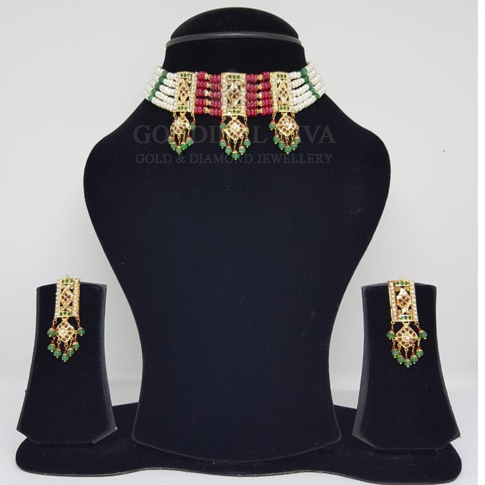 18kt gold necklace set gnl172 - gft436