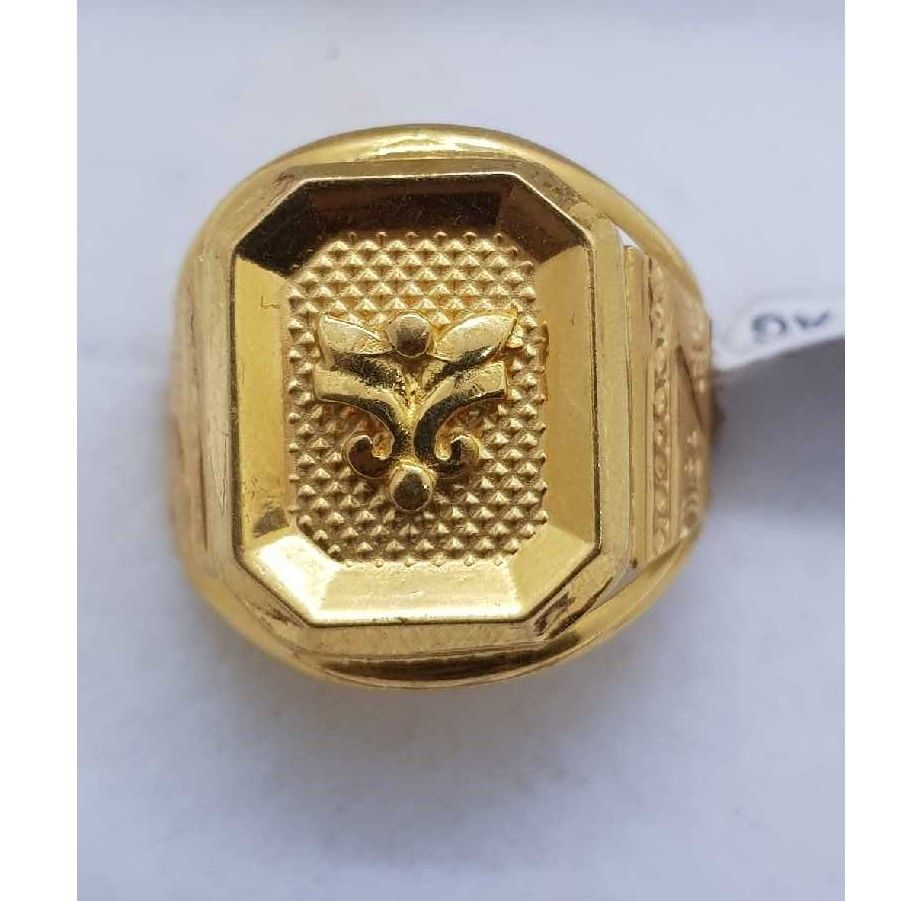 Plain Gold gents ring SJ-GR/59