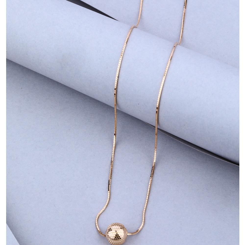 916 Gold Hallmark Classic Small Moti Pendant Chain