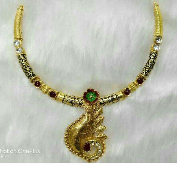 22K/916 Gold Antique Jadtar Necklace