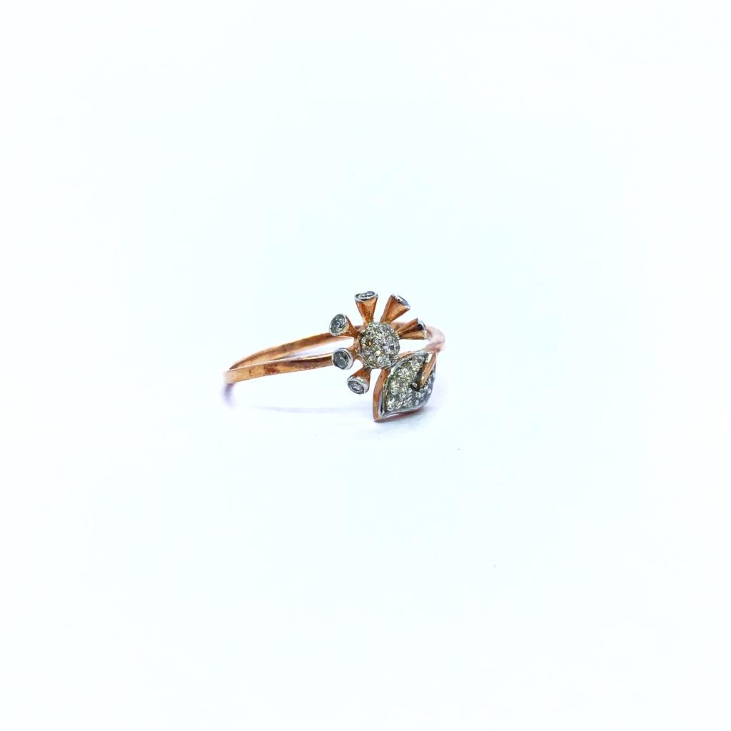 REAL DIAMOND FANCY ROSE GOLD FLOWER RING
