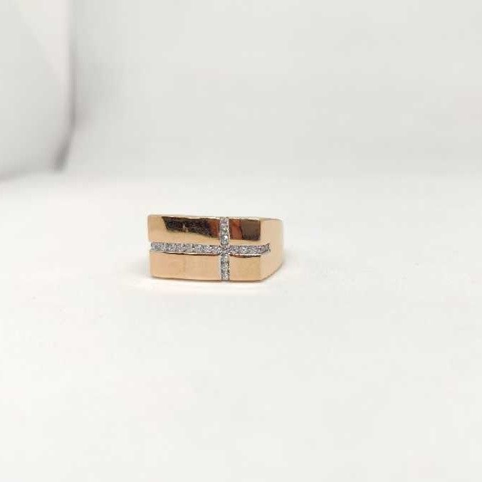 18k men's rose gold rings NO-31311