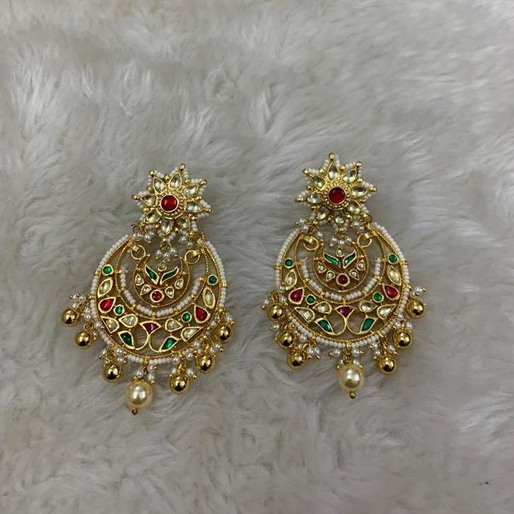 Imitation Rajwadi Kundan Earrings