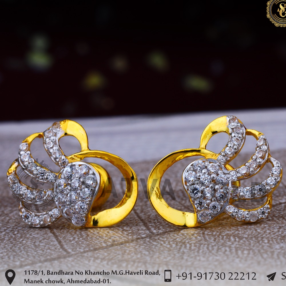 916 gold earrings sge-0044