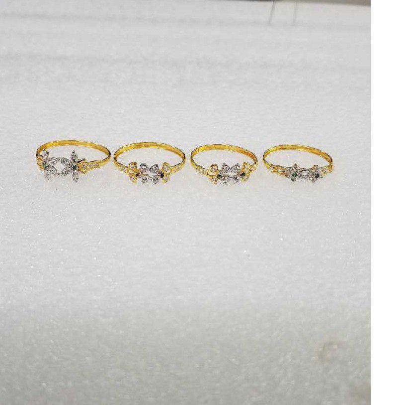 22KT  Gold Modern Design CZ Ladies Ring