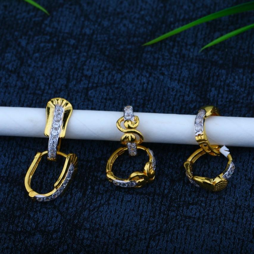18 kt gold Earrings fency bali