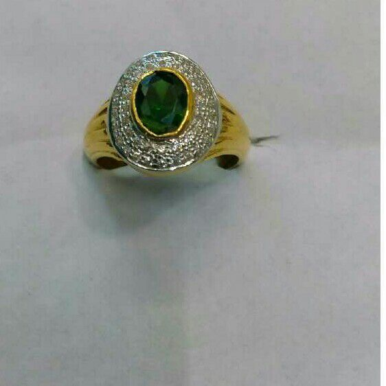 22K/916 Gold Single Stone Attractive Ring