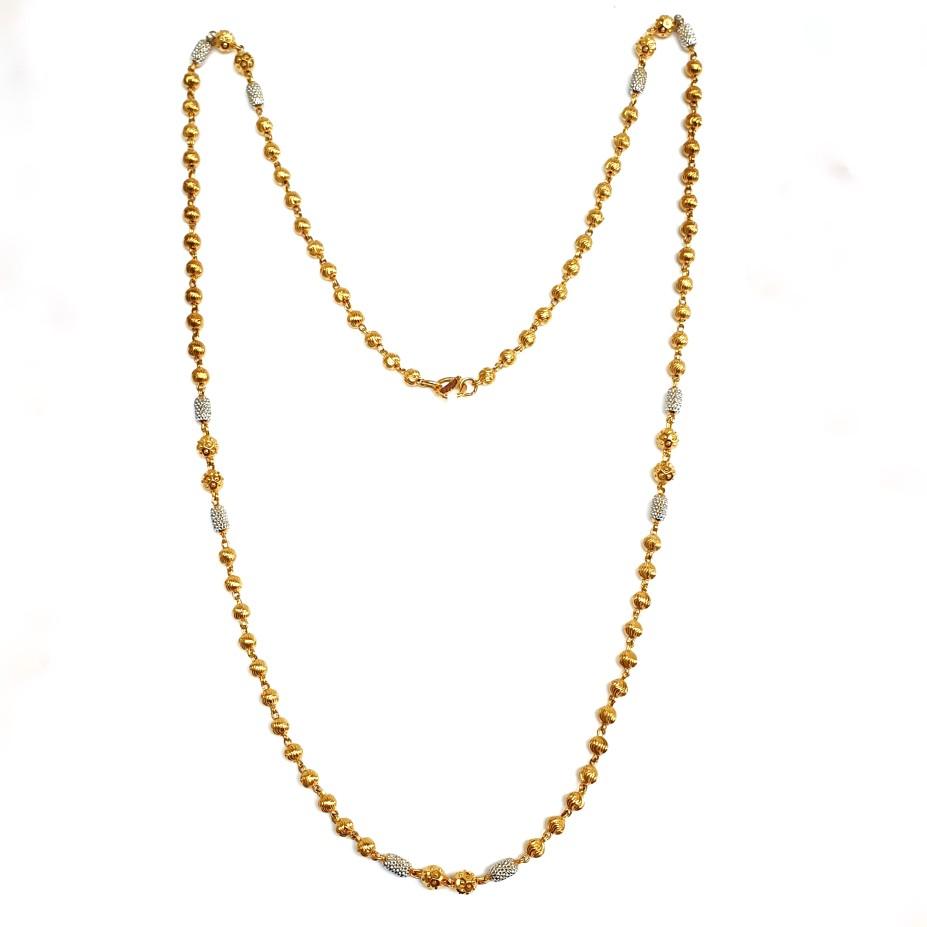 1 Gram Gold Forming CNC Vertical Mala Chain MGA - MLE0027
