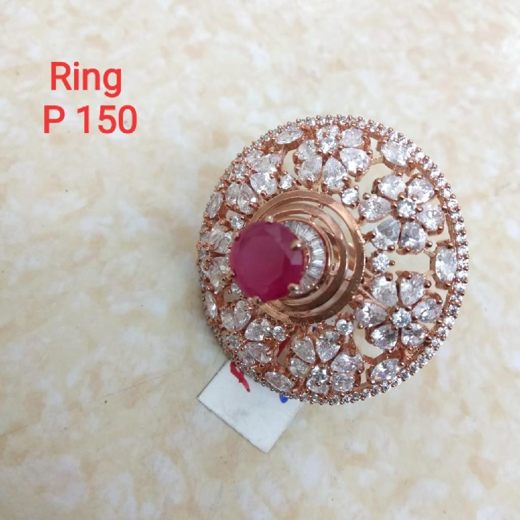 c.z diamond rose gold plated alina ring