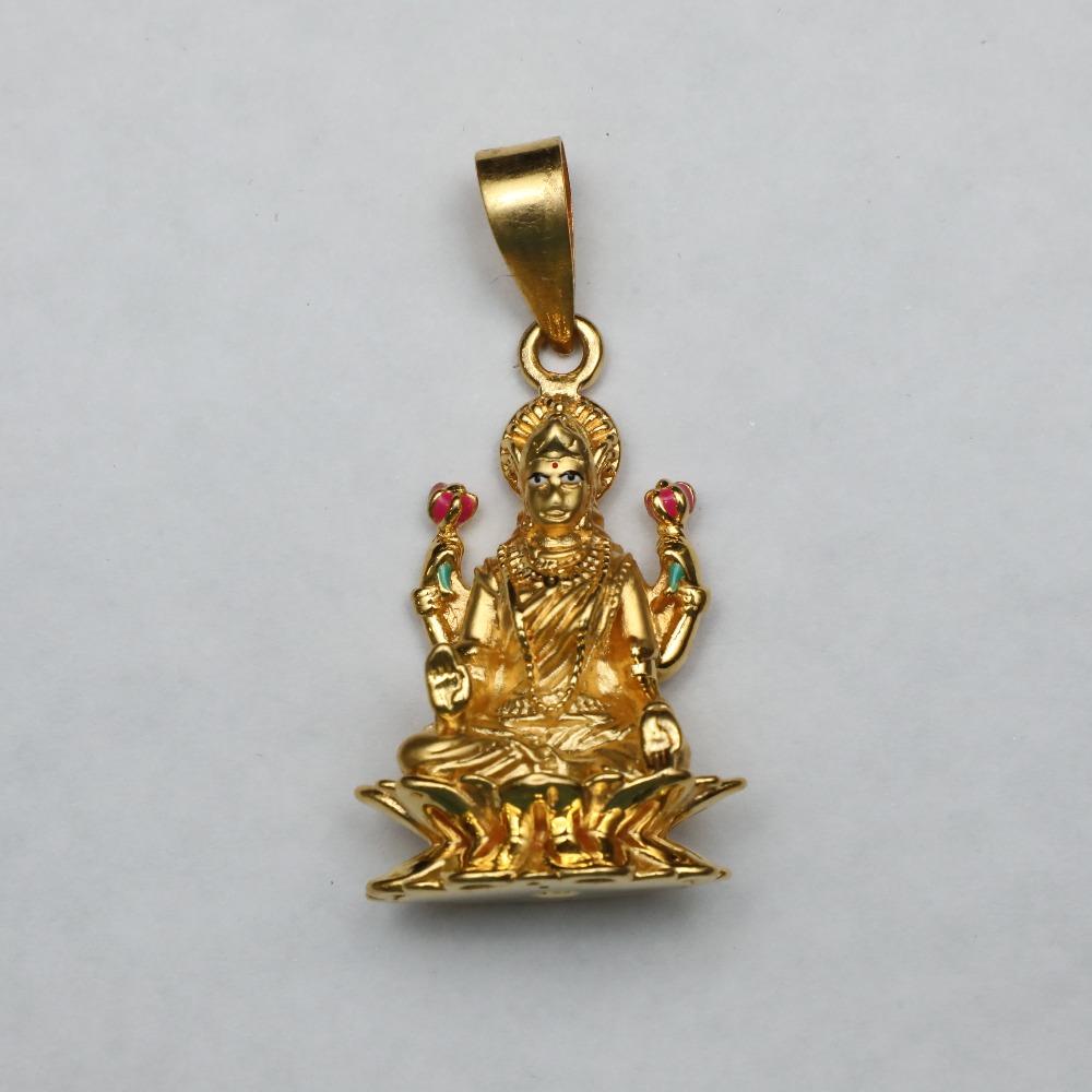 916 Gold Laxmi Pendant ML-P004