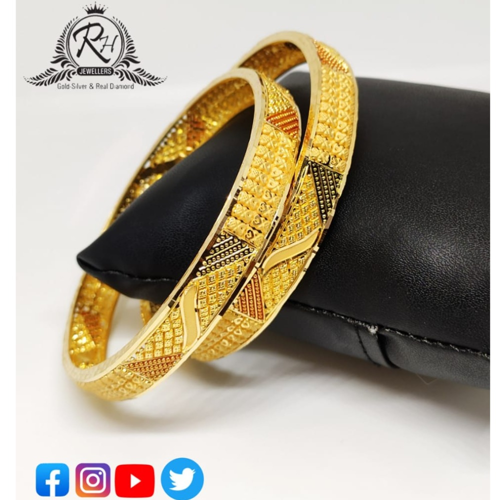22 carat gold fancy ladies bangles RH-LB537