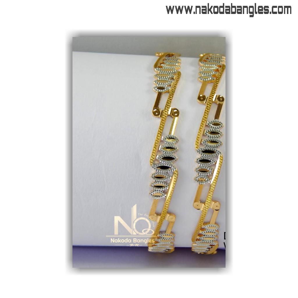 916 Gold CNC Bangles NB - 1408