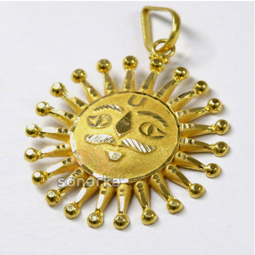 22k Yellow Gold Surya Pendant Manufacturer