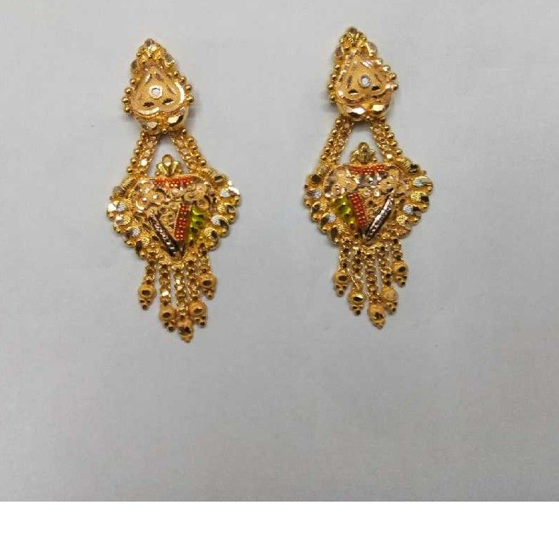 18kt Gold Designer Earrings