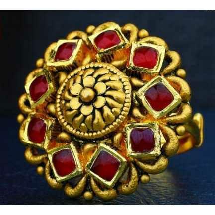916 Antique Gold Jadtar Ring