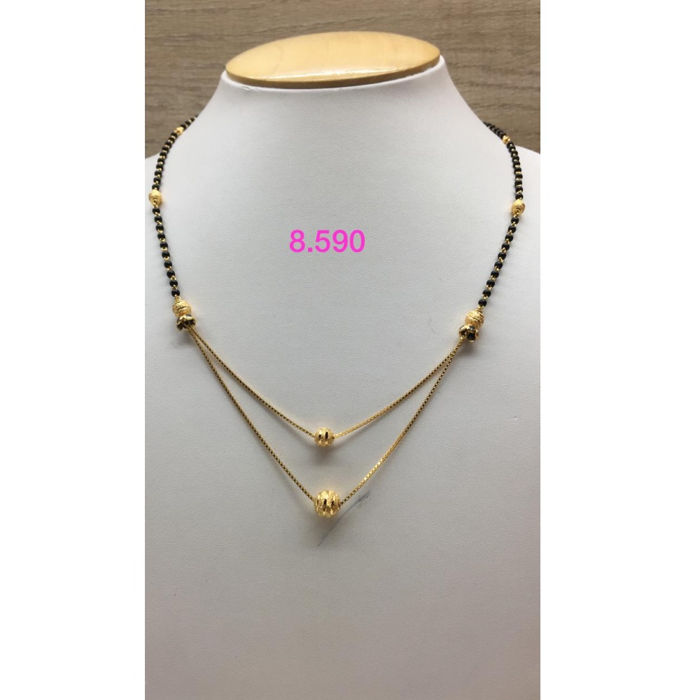 916 Gold Designer Double Layer Mangalsutra IO-M03