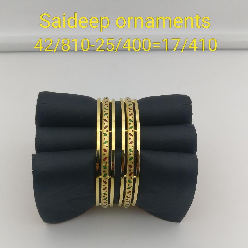 916 22 kt yallo gold copper bangle kadli light weight design