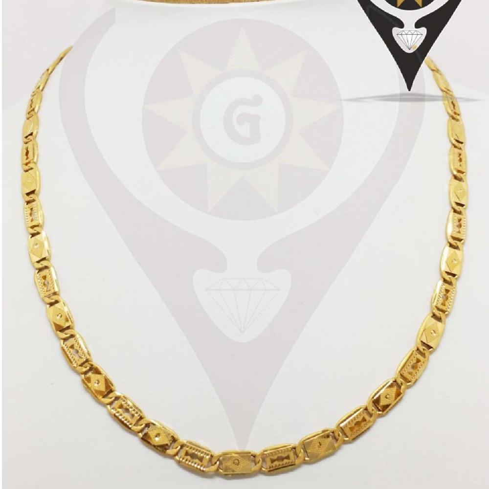 916 CZ hallmark Trendy Gold Design Chain