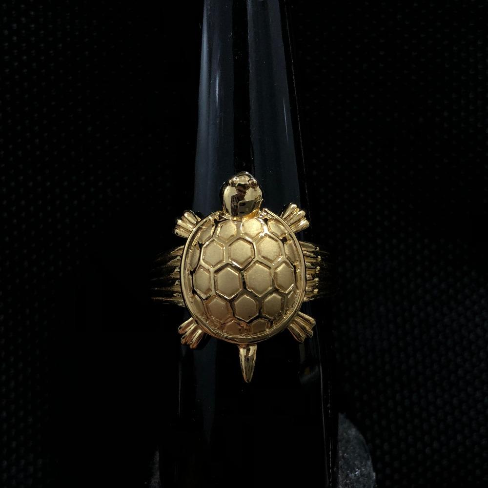 916 Gold Tortoise Ring For Men KDJ-R032