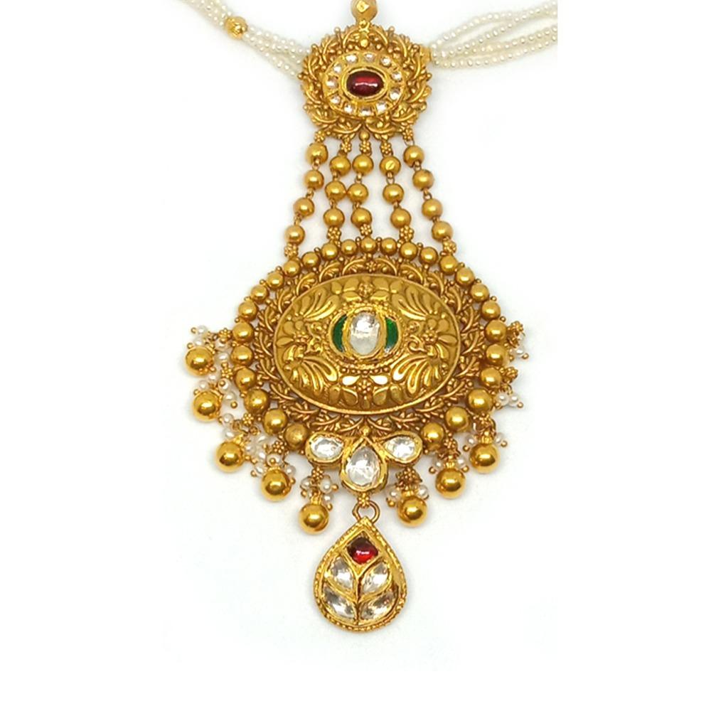 916 Gold Antique Designer Pendant Set LJ-10