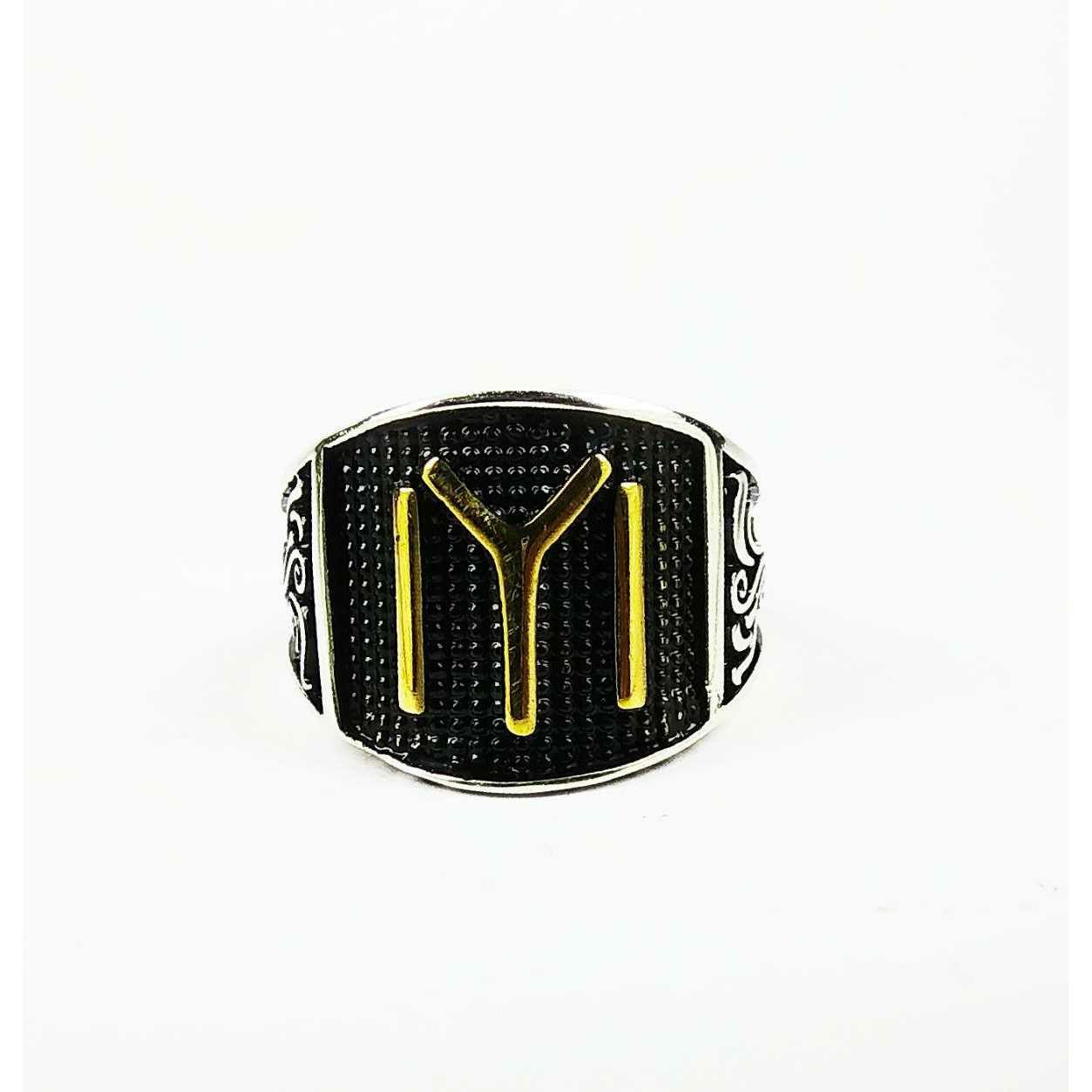 Fancy 925 Silver IYI Gents Ring