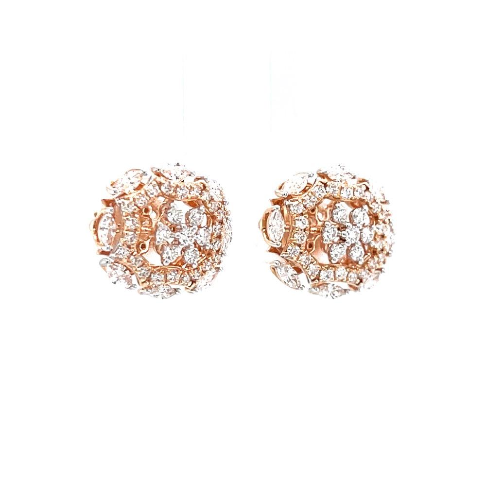 Seven diamond stud with fancy bracket in vvs quality diamonds