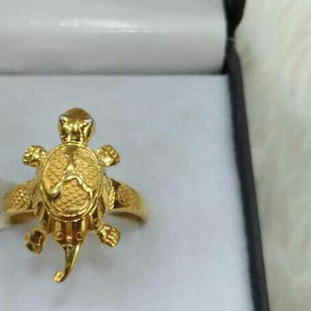 22k916  Tortoise Shape  Ladies Ring