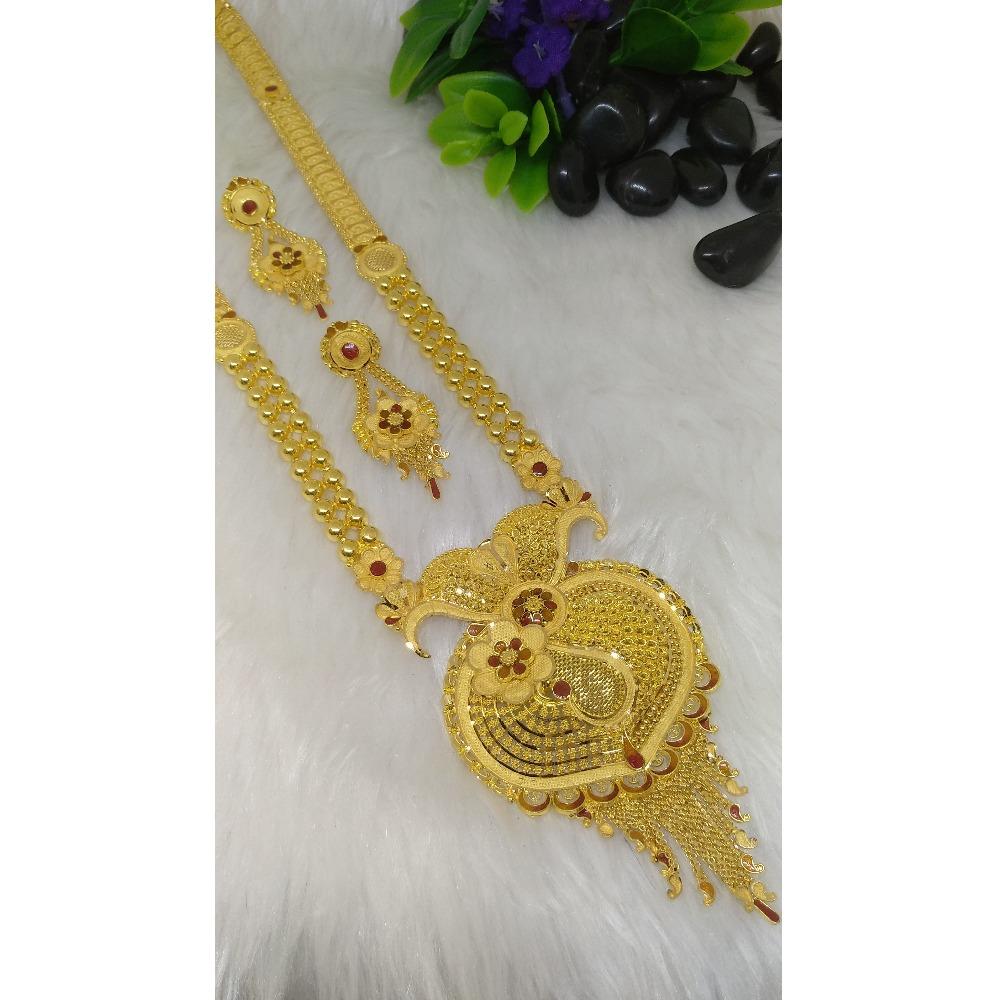22Kt Gold Fancy Long Necklace Set PO-N007