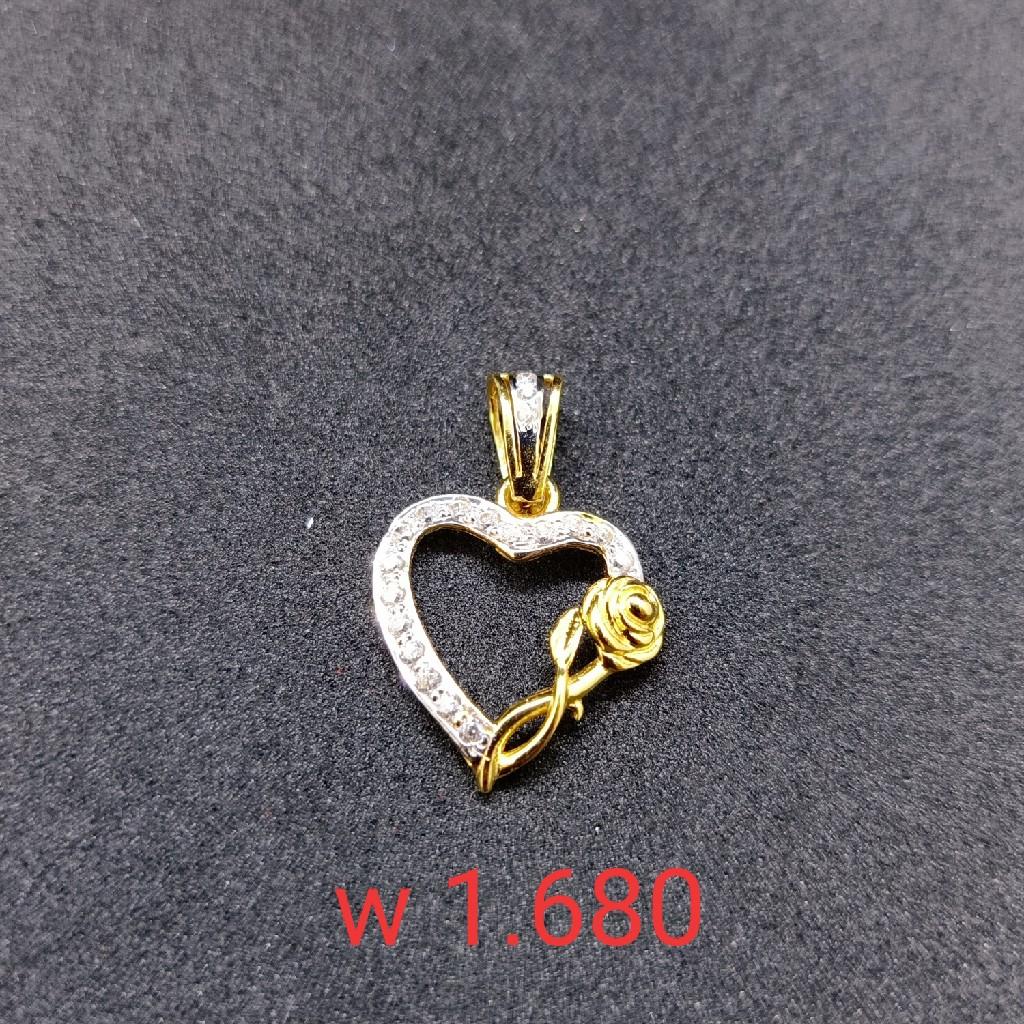 18 kt cz gold pendant