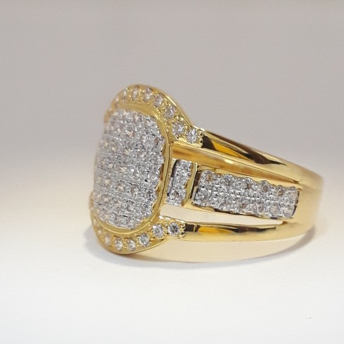 916 cz casual gents ring