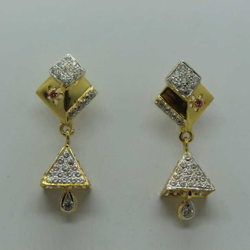 22k cz diamond fancy tops